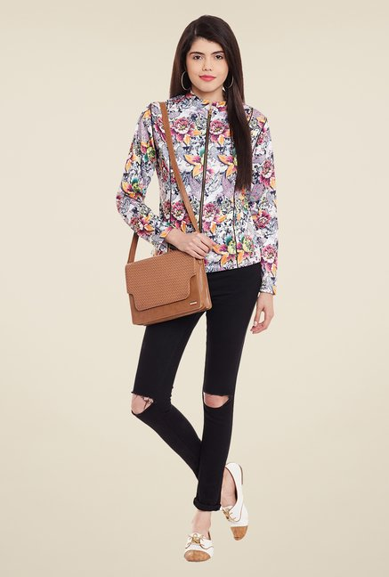 Meee Multicolor Floral Print Jacket