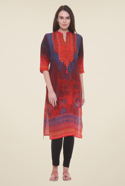 Shree Red Printed Kurta