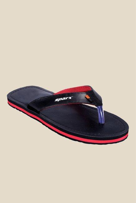 71c07cc111f7f8 Buy Sparx Black   Red Flip Flops for Men at Best Price   Tata CLiQ