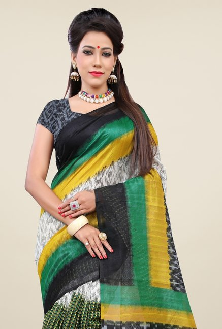 Triveni Multicolor Printed Bhagalpuri Silk Saree