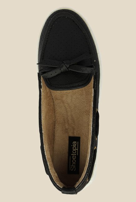 c6686f6785 Buy Shoetopia Van Bow Black Boat Shoes for Women at Best Price ...