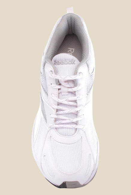 sale retailer 550f5 34a26 Reebok Acciomax IV LP White   Silver Running Shoes