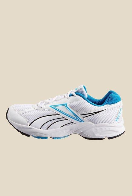 305c55cc Buy Reebok Record Runner LP White & Sky Blue Running Shoes for Men ...