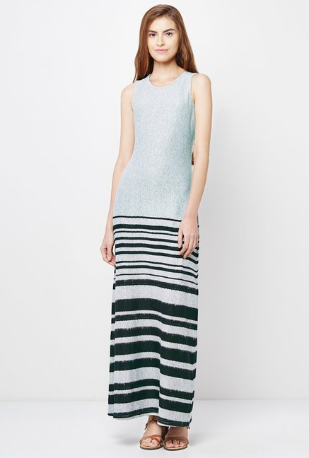 AND Grey Striped Dress