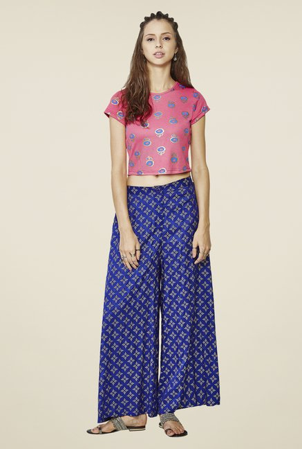 Global Desi Pink Printed Top