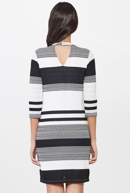 AND White & Black Printed Dress