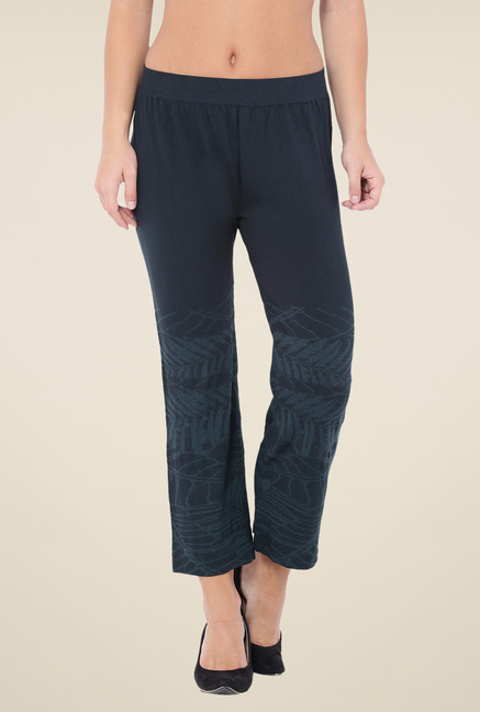 C9 Seamless Navy Printed Flat Pants