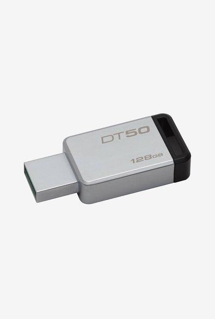 Kingston DataTraveler 50 128GB Pen Drive (Black)
