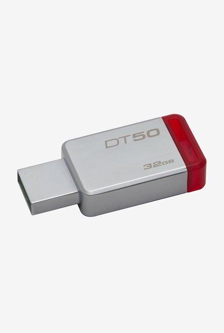 Kingston DataTraveler 50 32GB Pen Drive (Red)