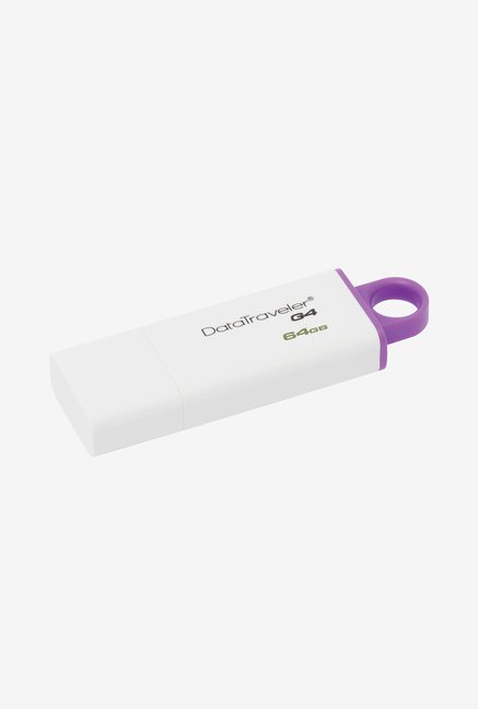 Kingston G4 DTIG4 64 GB USB 3.0 Pen Drive  White/Purple