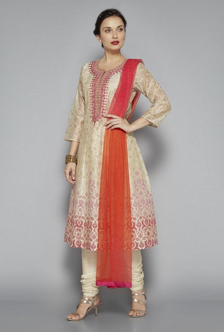 af98fda62f 28% OFF on Vark by Westside Beige Embroidered Suit Set on TataCliq |  PaisaWapas.com