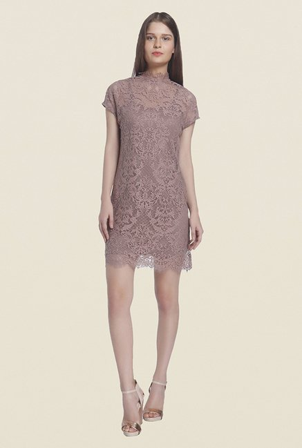 Buy Vero Moda Brown Lace Dress For Women Online At Tata