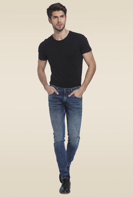 Jack & Jones Blue Slim Fit Cotton Jeans