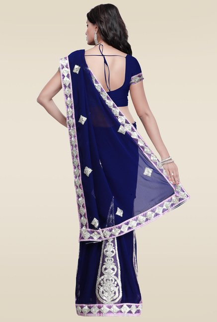 Janasya Blue Gotta Patti Saree