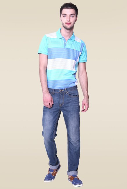 Vudu Blue Mid Rise Slim Fit Jeans