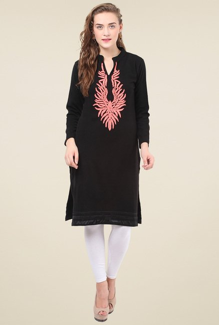 Duke Black Full Sleeves Regular Fit Kurti