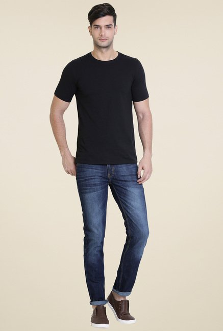 Vudu Blue Slim Fit Cotton Jeans