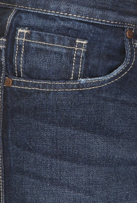Vudu Blue Cotton Mid Rise Slim Fit Jeans