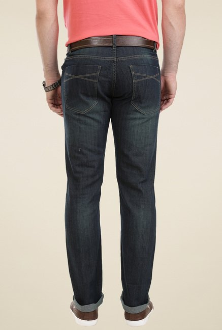 Vudu Grey Mid Rise Cotton Slim Fit Jeans
