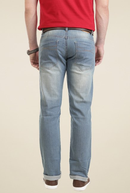 Vudu Faded Blue Mid Rise Jeans