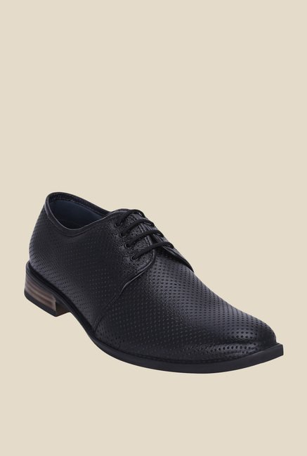 Get Glamr Louise Black Derby Shoes