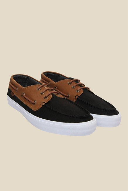 Buy Vans Chauffeur SF Black   Tan Boat Shoes for Men at Best Price   Tata  CLiQ 489b5b7de