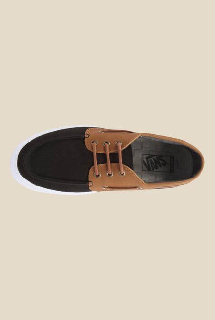 Buy Vans Chauffeur SF Black   Tan Boat Shoes for Men at Best Price ... efcb4a444