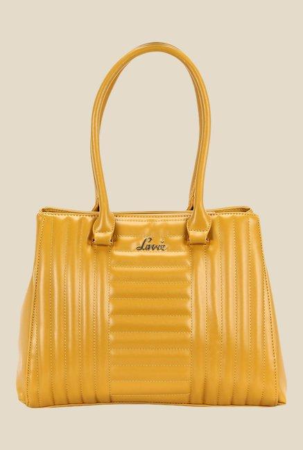 Lavie Senoi Ochre Quilted Shoulder Bag