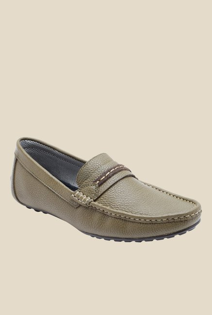 Franco Leone Olive Casual Loafers