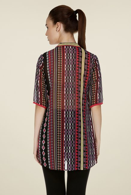 109 F Multicolor Geometric Print Tunic