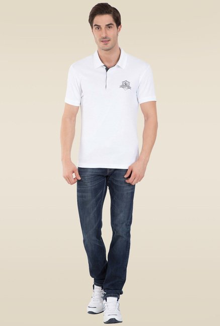 76007f2d4 Buy Jockey White Sport Polo T-Shirt - 3911 for Men Online @ Tata CLiQ