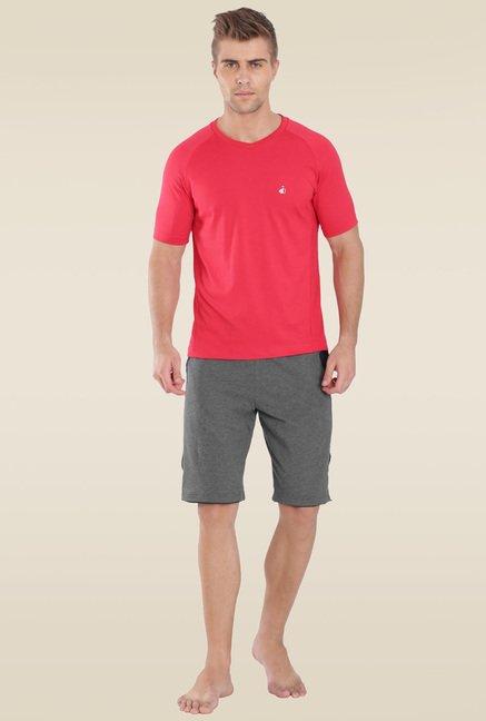 8ccaa7493525c Buy Jockey Charcoal Melange   Navy Active Shorts - 9415 for Men ...