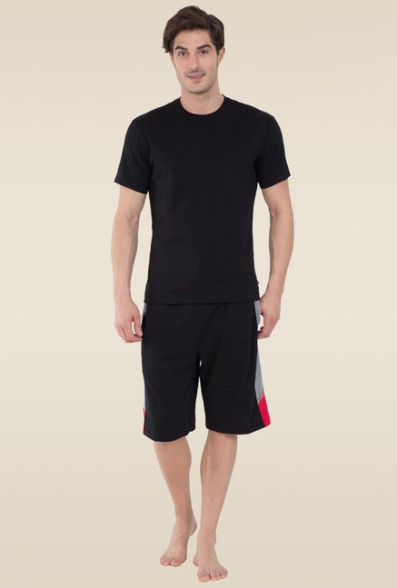 594cd1d2efade Buy Jockey Black   Grey Melange Active Shorts - 9415 for Men Online ...