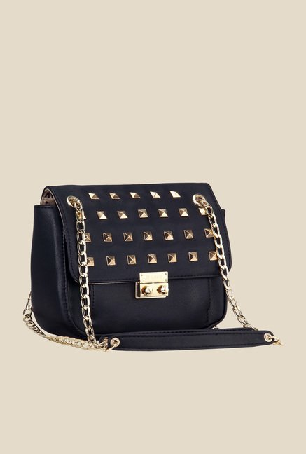 Buy Lavie Steen Black Studded Sling Bag For Women At Best Price ...
