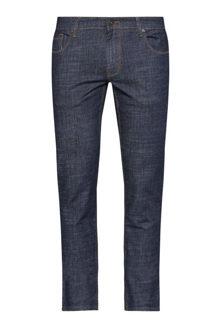 Westsport by Westside Blue Slim Fit Textured Jeans