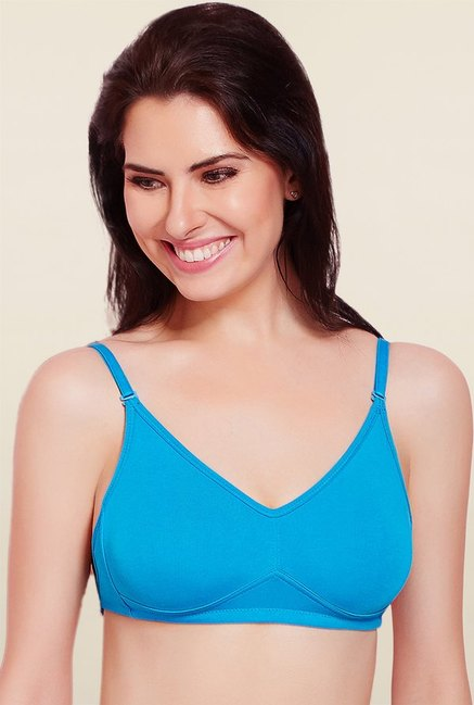 Rosaline By Zivame Blue Non Padded Bra