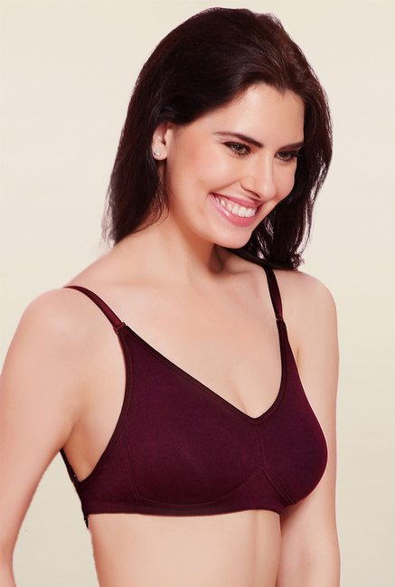 Rosaline By Zivame Wine Non Padded Bra