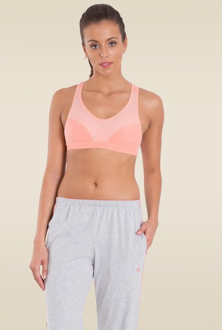 Jockey Desert Flower Racer Back Padded Active Bra - 1378