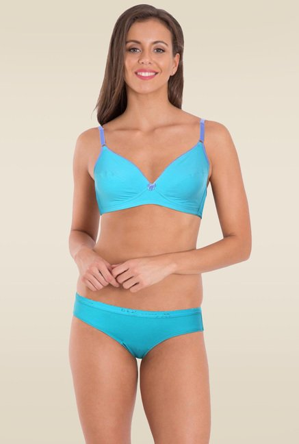 Jockey Teal & Iris Blue Fashion Fit Bra - 3101