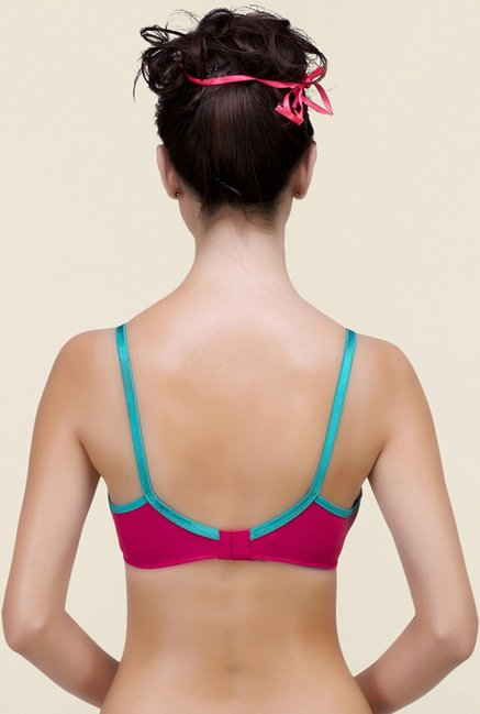 Inner Sense Pink & Blue Non Padded Bra (Pack of 2)