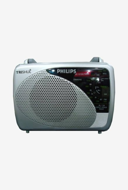 Philips Trishul RL118 FM Radio (Silver)