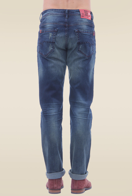 Monte Carlo Blue Slim Fit Solid Jeans