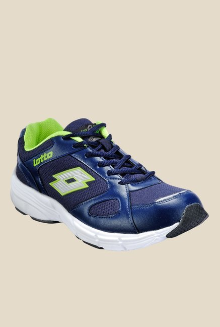 a8b50f296ad Lotto Omega Ii Navy Lime Green Running Shoes For Men At