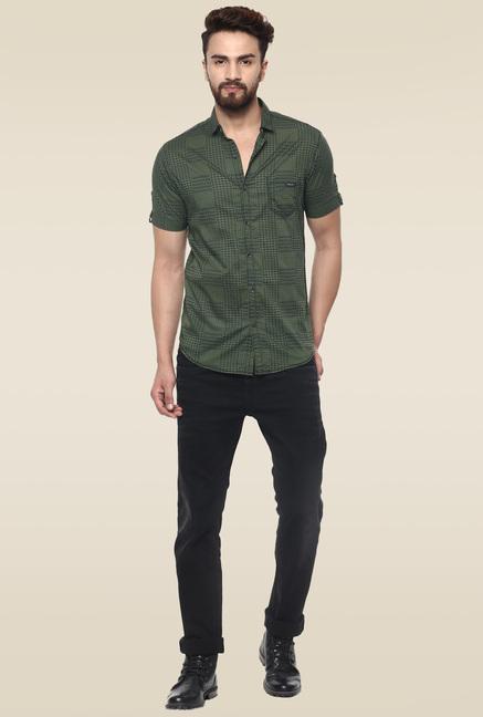 3859d012 Buy Mufti Olive Half Sleeves Shirt for Men Online @ Tata CLiQ