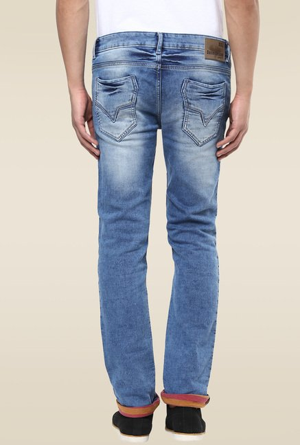 Mufti Dark Blue Narrow Fit Mid Rise Jeans