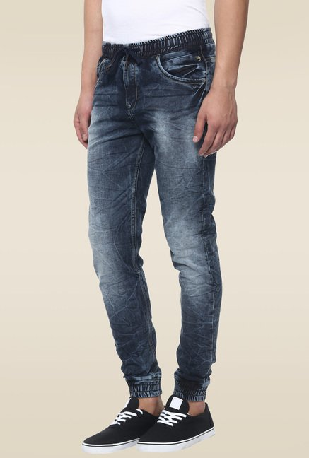 Mufti Light Blue Acid Washed Mid Rise Jeans