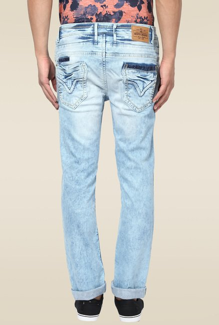 Mufti Light Blue Acid Washed Jeans