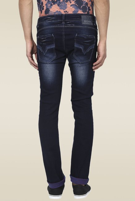 Mufti Deep Blue Mid Rise Jeans