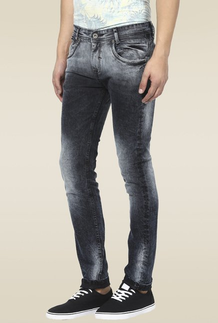 Mufti Black Stone Acid Washed Jeans