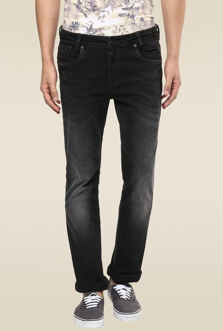 Mufti Black Strone Straight Fit Jeans